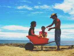 En una carreta platja