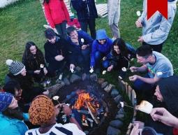 Bonfire on the coast of Iceland