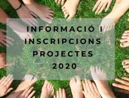 Informació i inscripcions projectes 2020