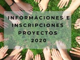 Información e inscripciones proyectos 2020
